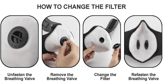 How to change the filter on the Sports Mask